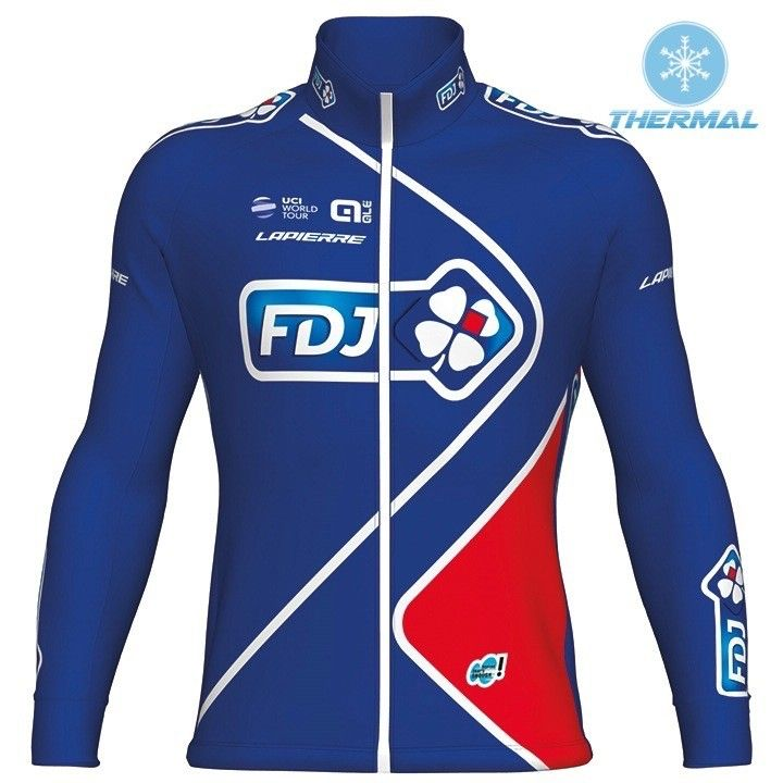 FDJ Winter Thermal Fleece Bicycle Jerseys for Men Super Warm Pro Team Cycling Clothing Sportswear Ropa Maillot Ciclismo