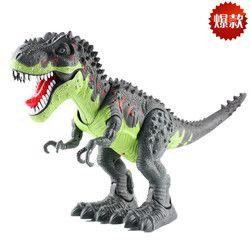 Listrik Baru Dinosaurus Ukuran Besar Berjalan Dinosaurus Robot Mainan Bisa Berjalan, membuat Suara dengan Cahaya Tyrannosaurus Rex Hadiah Mainan untuk Anak-anak