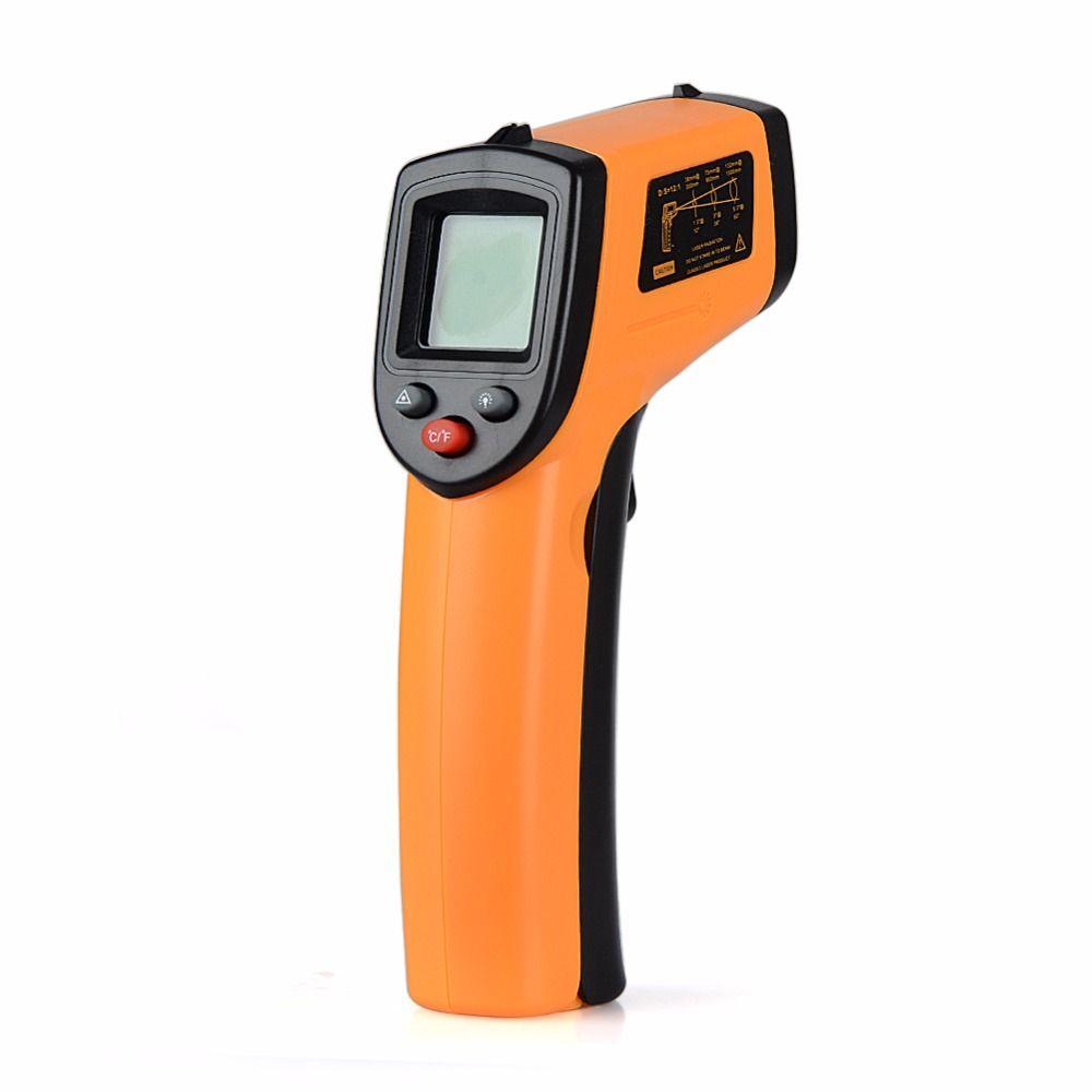 GM320 Laser LCD numérique IR thermomètre infrarouge température mètre pistolet Point-50 ~ 380 degrés thermomètre sans Contact