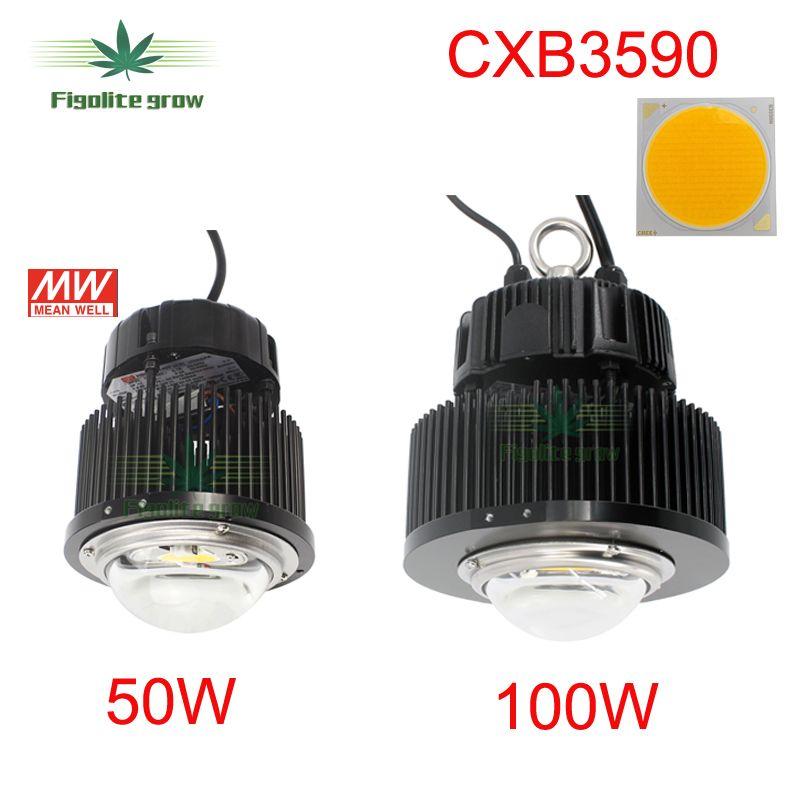 DIY CREE COB CXB3590 led wachsen licht mit Ideal halter 50-2303CR Meanwell fahrer HBG-100-36B ersetzen 400w HPS wachsen licht