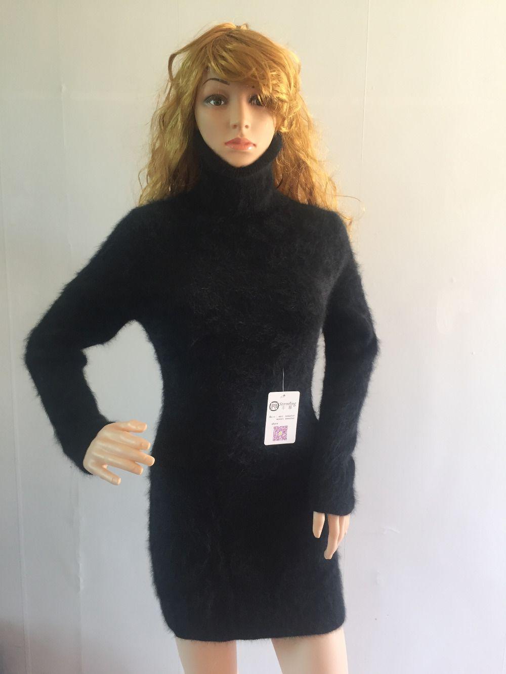 Новые Женские норки кашемировый свитер, компьютер вязаный свитер, Длинные Бесплатная доставка T0065