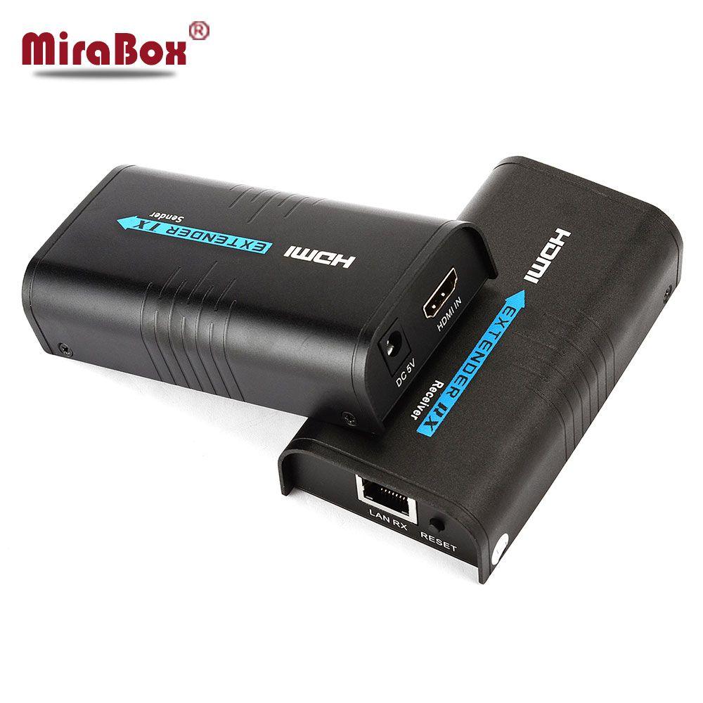 Prolongateur hdmi 120 m sur Ethernet tcp/ip rj45 cat5 cat5e cat6 HDMI séparateur hdmi extender récepteur pour hd DVD PS3