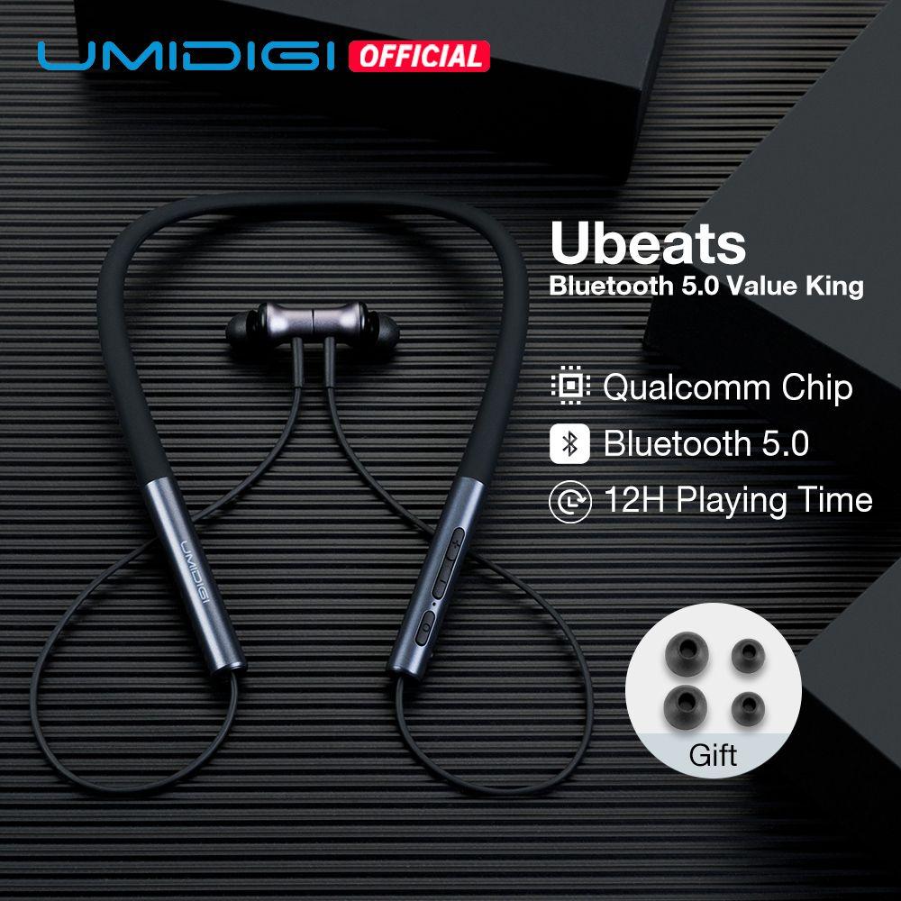 UMIDIGI Ubeats Wireless Earphone Bluetooth 5.0 In-Ear Sport Headset with Mic CVC Noice Reduction Magnetic Neckband Earpieces