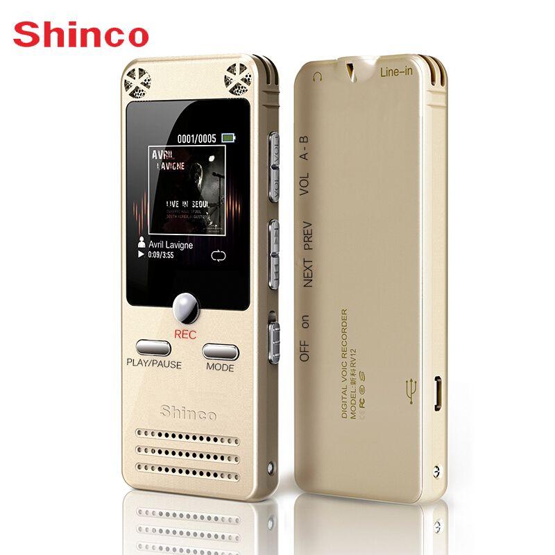 Voice Recorder Shinco RV12 16 GB Digital Sound Aufnahmegerät mit LCD Display USB Unterstützung Mp3-player Diktiergerät Pen Recorder