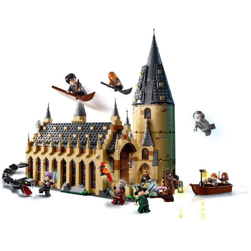 2018 new fit Harry Potter legoing figures The Hogwarts Great Wall Set Model Building Blocks House Kids Toys for Christmas Gifts