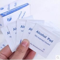 5 PCs alcohol disinfection alcohol pad tableware disinfection cotton pad wet wipe outdoor travel first aid kit supplies Z391-5PC