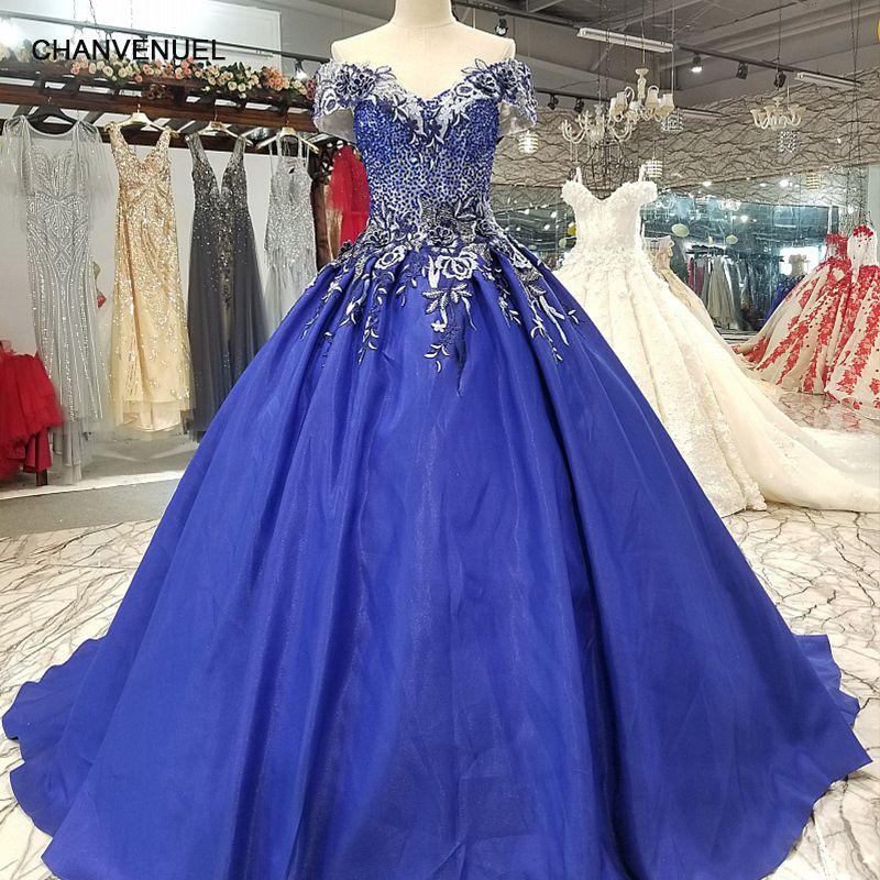 LS1099 blau schulterfrei a-line abendkleid kurzarm lace up zurück satin günstige kleid mit zug für sexy mütter von bräute