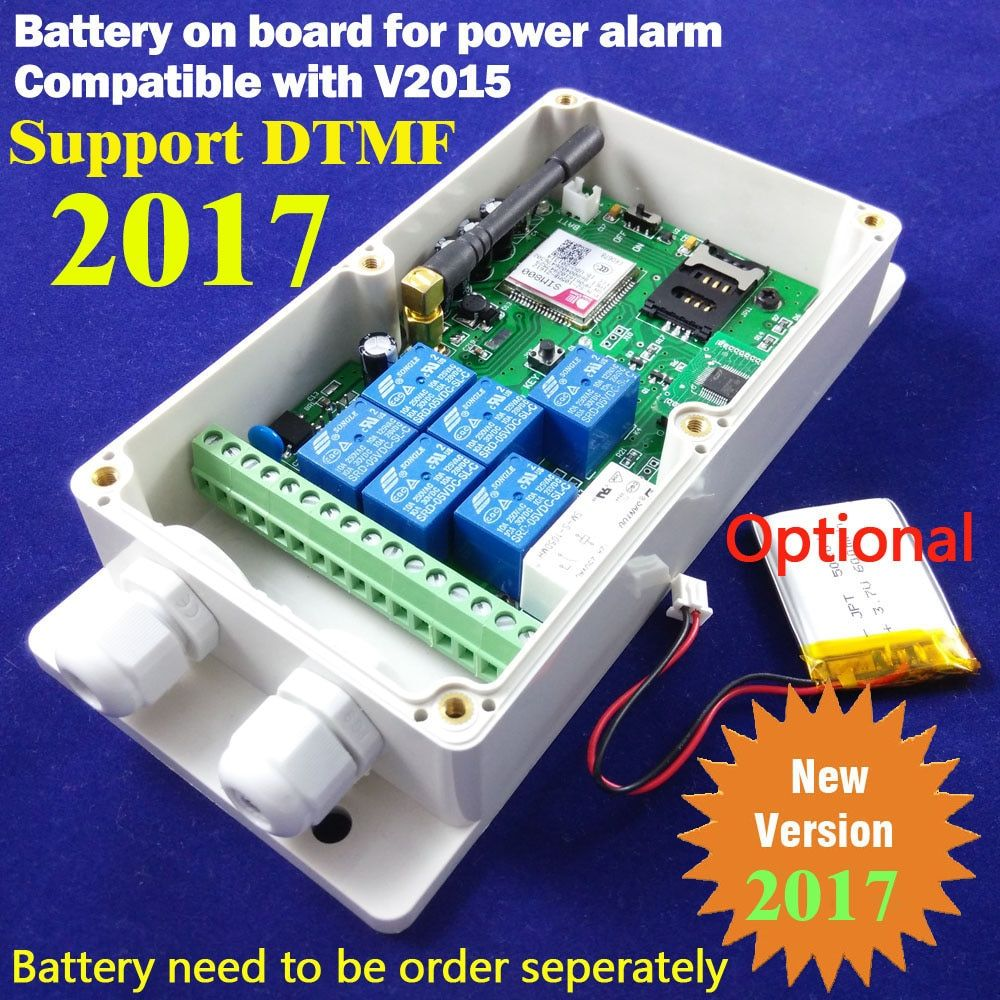 Free shipping Post airmail 1pcs Seven Relay Real-Time GSM Remote Control Relay Output Contacts Switch Box GSM QUAD Band