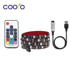 USB LED Strip 5050 RGB TV Background Lighting Kit Cuttable with 3 Key/ 17 Key/ 24 Key RGB LED Controller, 0.5M/1M/2M Set