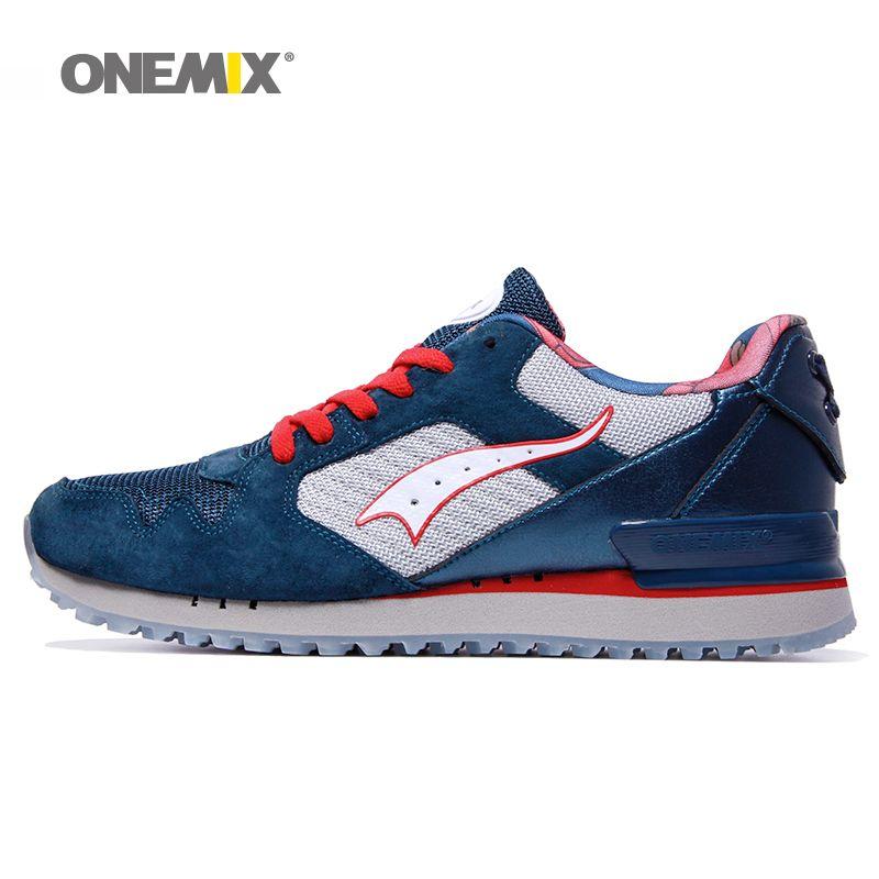 Onemix men classic retro running shoes lightweight sneakers for outdoor sports walking sneakers jogging trekking shoes for men