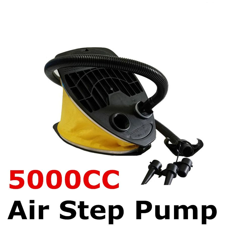 Instock 11 inch 5000cc Air Step Inflation Foot Pump Inflator For Air Beds Lilo Pool Kayak Boat with 3 nozzle