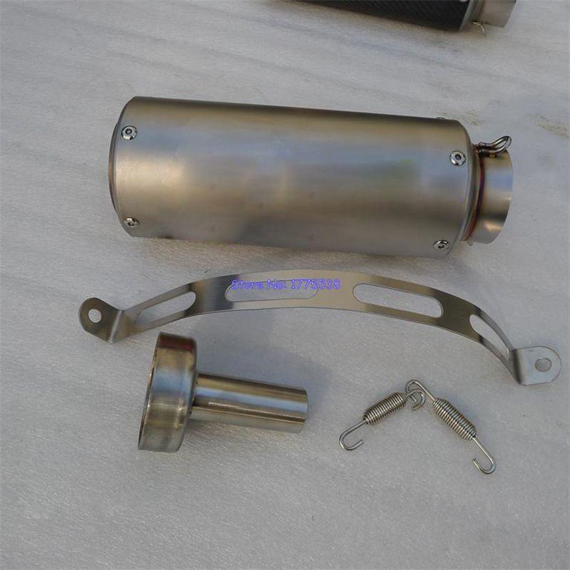Imitation titane personnalisé ID: 51mm/61mm/63mm/65mm moto tuyau d'échappement silencieux échappement amortisseur avec DB tueur déflecteur pièces
