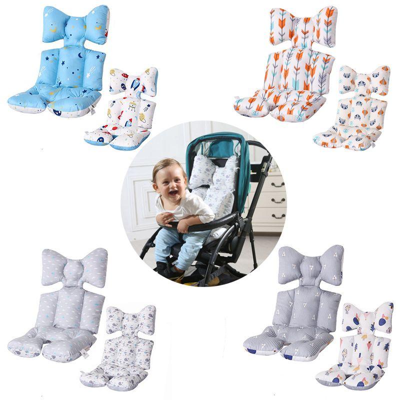 2 côtés bébé imprimé poussette Pad siège chaud coussin matelas oreiller couverture enfant chariot Pad chariot chaise coussin