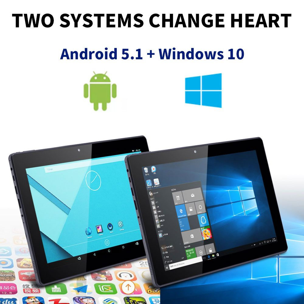 NERLMIAY 2 In 1 HD 10,1 Zoll Android5.1 + Windows10 Tablet PC Computer 2G + 32G WIFI Bluetooth 5,1 Mit tastatur