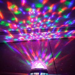 Litwod Z20 Led صغيرة الكرة السحرية ضوء المرحلة الملونة الدورية شريط ضوء البلورة السحرية الكرة 3 واط ضوء الليزر