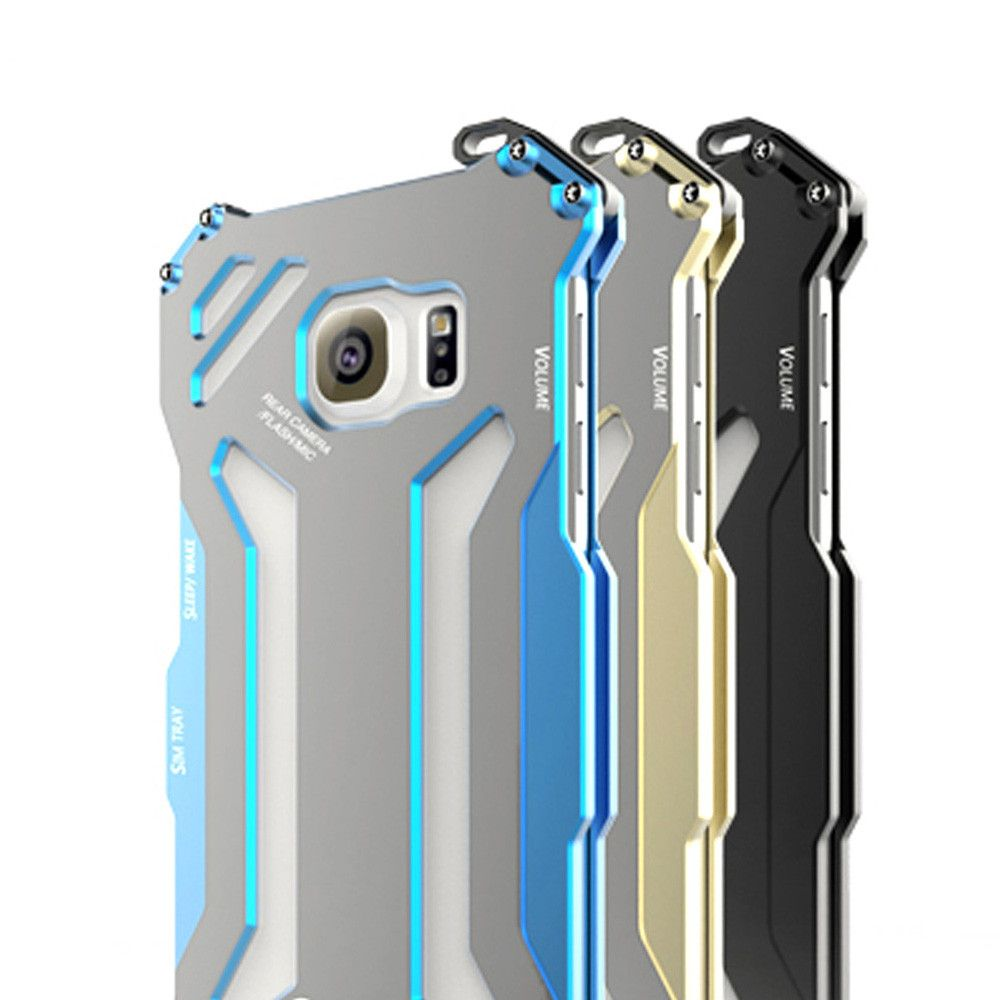 R-Just Luxury Metal Case For Samsung Galaxy S7 Shockproof Aluminum Back Cover Protective Case For Samsung S7 edge Phone case
