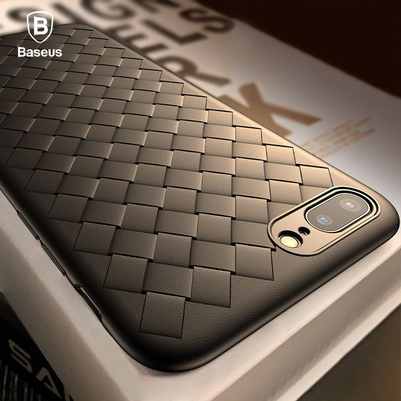 Baseus Creative Grid Silicone Case For iPhone 8 8 Plus 7 7 Plus X Cases Luxury Ultra Thin Soft TPU Case For iPhone 8 8 Plus Capa