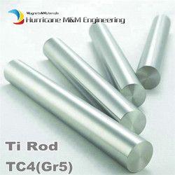 Titanium Alloy Silinder Diameter 14 Mm TC4 Industri Penelitian Eksperimen Diy GR5 Ti Rod Titanium Alloy Bar Batang Panjang