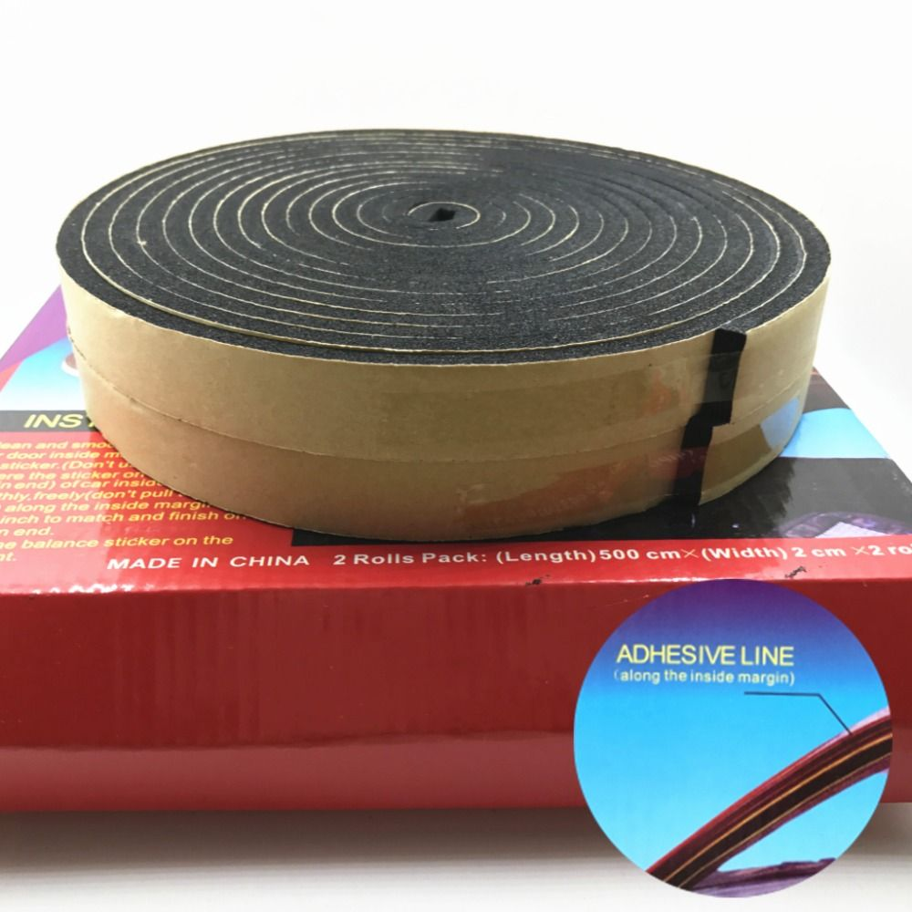 2 Roll 5 M Top Quality Glass Seal Adhesive Draught Excluder Strip Window Door Sealing Tape Adhesive Tape Rubber Weather Strip