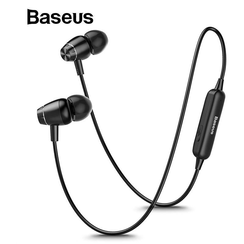 Baseus S09 Bluetooth écouteur sans fil casque aimant écouteurs avec Microphone stéréo Auriculares Bluetooth écouteur pour téléphone