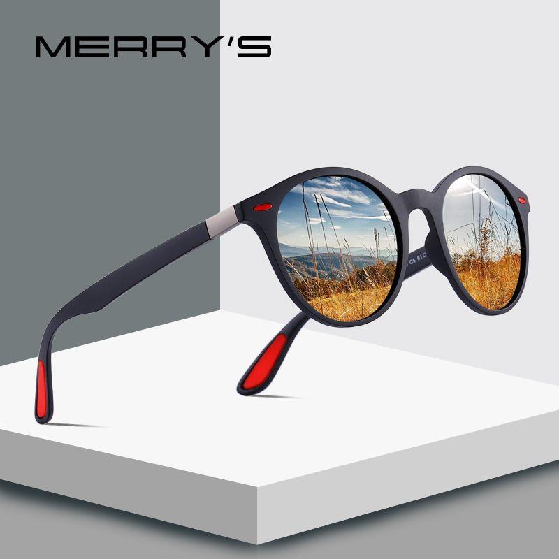 MERRYS CONCEPTION Hommes Femmes Classique Rétro Rivet lunettes de Soleil Polarisées TR90 Jambes DESIGN Plus Léger Ovale Cadre UV400 Protection S8126
