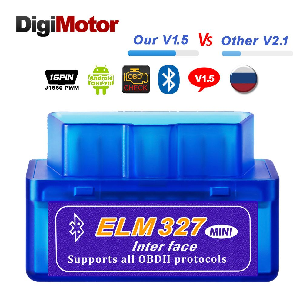 Réel ELM327 V 1.5 ELM 327 Bluetooth OBD2 v1.5 Android Voiture Scanner Automobile OBD 2 Auto Outil De Diagnostic OBDII Scanner mieux V2.1