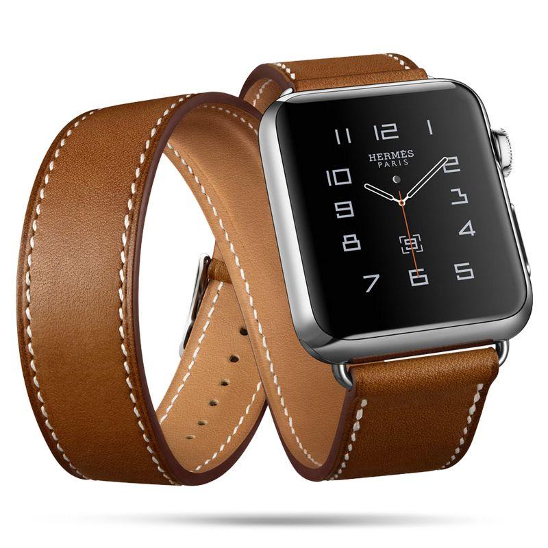 FOHUAS Extra Long Véritable Bracelet En Cuir Double Tour Bracelet En Cuir bracelet Bracelet pour Apple Montre Série 2 38mm amd 42mm femme