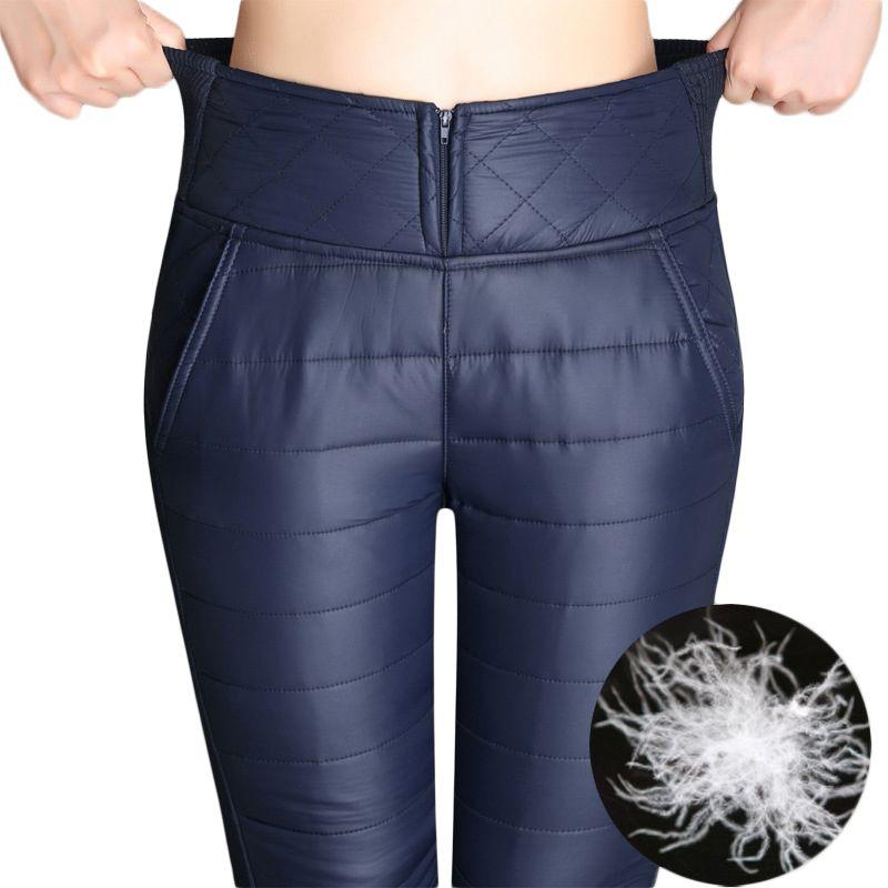 Femmes Formelle Pantalon 2018 Hiver Taille Haute Vêtements D'extérieur Pantalon Femelle Mode Slim Chaud Épais En Bas du Pantalon Pantalon Femmes Plus taille