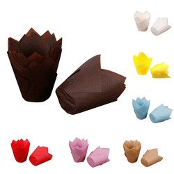 50 pcs/lot Simple Solide Papier Cupcake Liners pour le Mariage Muffin Wraps Patty Cas Cup Cake Liner Parti Fournitures