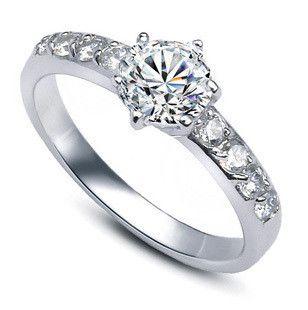 2017 nouvelle arrivée vente chaude de luxe CZ zircon 925 sterling argent femelle 'anneaux de mariage bijoux en gros drop shipping pas cher