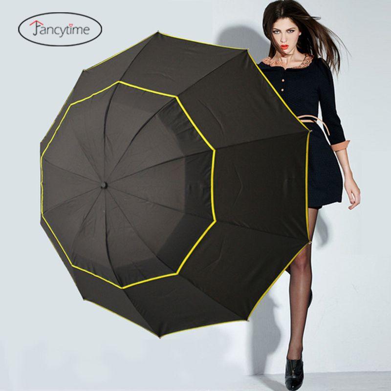 130cm Big Golf Umbrellas for Men Windproof Large Women Sun Floding Big Female Umbrella Rain Woman Outdoor Parapluie Parasol