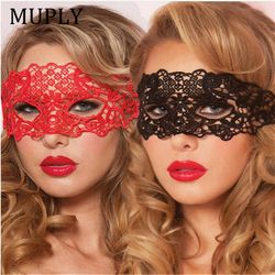 Sexy Babydoll Porno Lingerie Sexy Noir/Blanc/Rouge Creux Dentelle Masque Érotique Costumes Femmes Sexy Lingerie Chaude Cosplay parti Masques