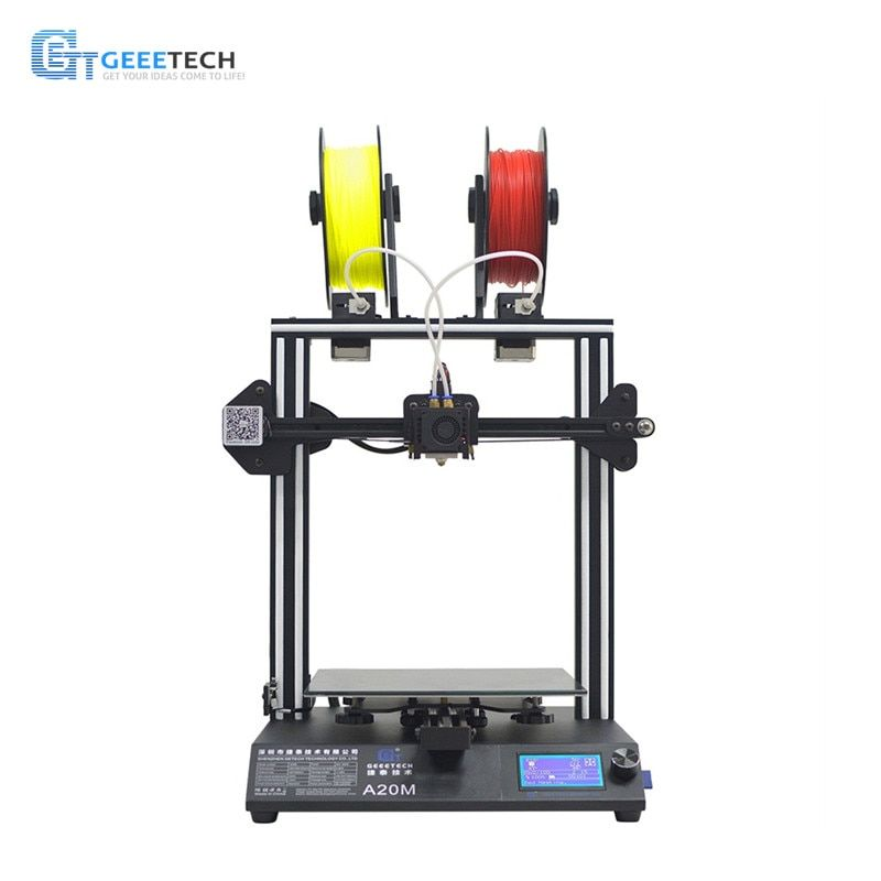 Geeetech A20M Mix-farbe Schnelle Montage 3D Drucker mit Filament Fetector und Brechen-Fortsetzen Fähigkeit 255*255*255 druck Volumen