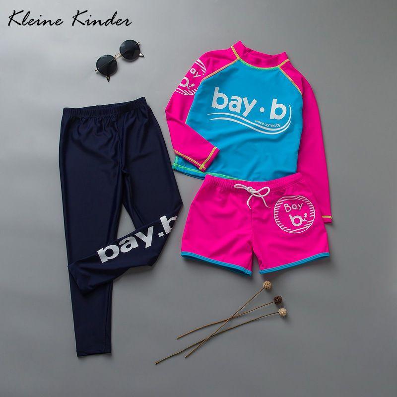 Mädchen bademode 3 stück rashguards + shorts + hosen badeanzüge für mädchen kleinkind surfen anzug bade kleidung für mädchen 3 -10 jahre