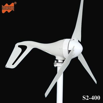 Livraison Gratuite AC12V/24 v 400 w Vent Turbine générateur petit moulin à vent pour un usage domestique, CE RoHS Approbation
