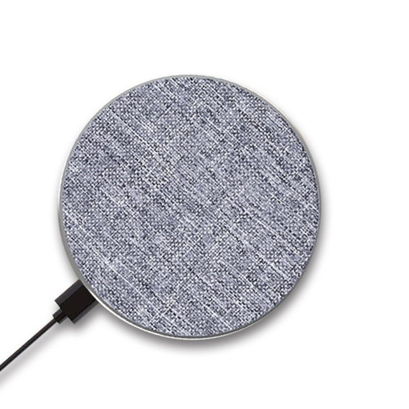 10W Jean Fabric Wireless Charger for iPhone 8/ 8 Plus/ X and Samsung Galaxy Note8/ Note5/ S8 Fast Wireless Charging Pad