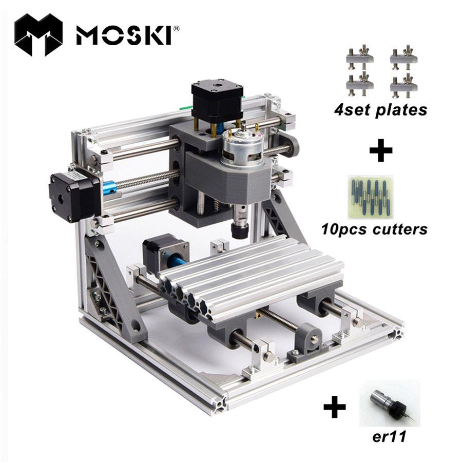 MOSKI ,CNC 1610 with ER11,diy cnc engraving machine,mini Pcb Milling Machine,Wood Carving machine,cnc router,cnc1610,best toys