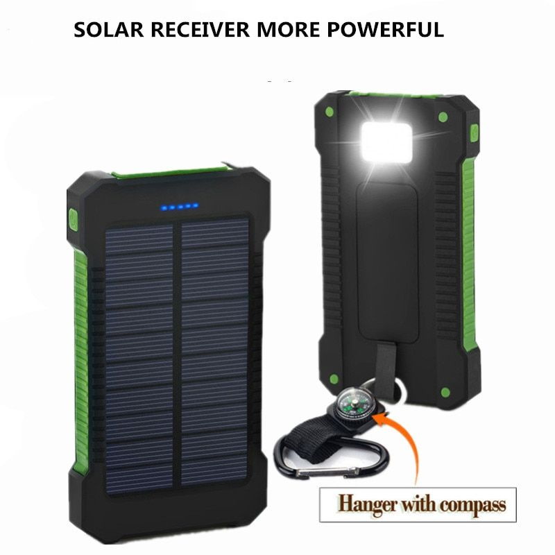 2019 batterie Portable solaire 20000mAh Double USB chargeur solaire batterie externe chargeur Portable Bateria extna Pack pour téléphone intelligent