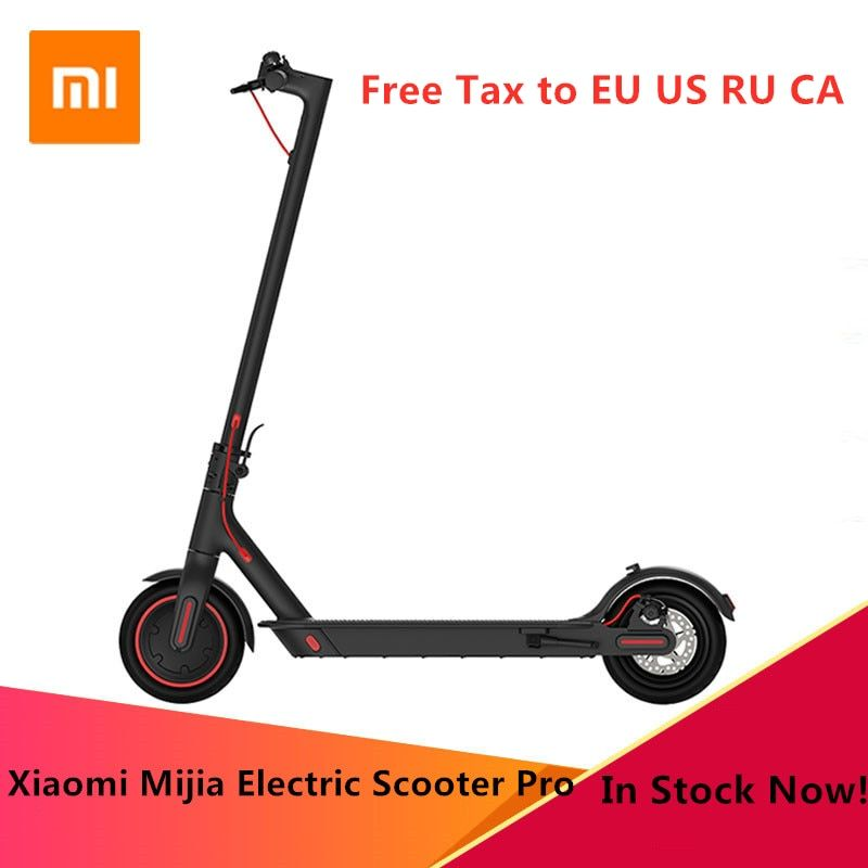 Original Xiaomi Mijia Pro Smart Elektrische Roller Faltbare Hoverboard Skate Bord KickScooter Mini Zwei Räder 45 KM Roller