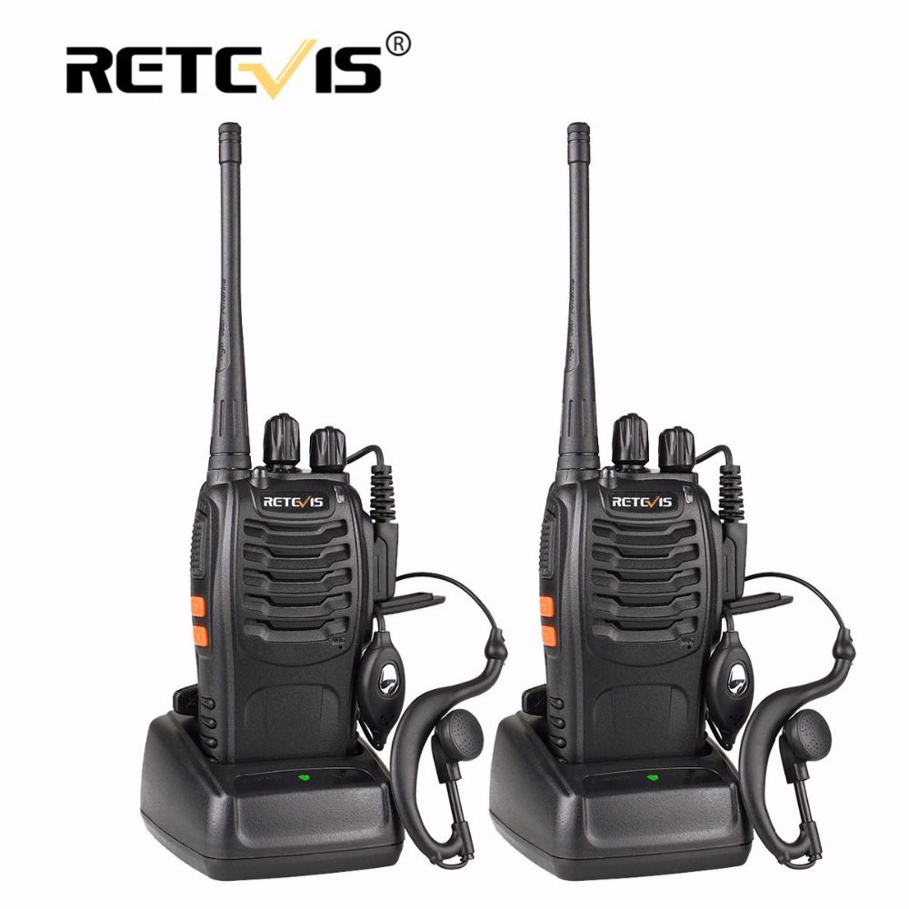 2 pcs Retevis H777 Portable Talkie Walkie 16CH UHF 400-470 MHz Ham Radio Hf Émetteur-Récepteur 2 Voies cb Radio Communicateur Talkie-walkie