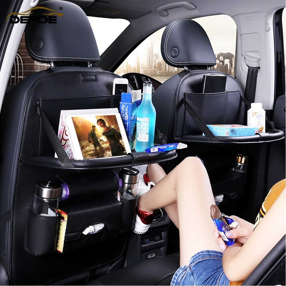 Classe A housse de siège de voiture siège arrière pli à manger support de siège de voiture sac de rangement multifonction véhicule boîte de rangement coussin de siège de voiture