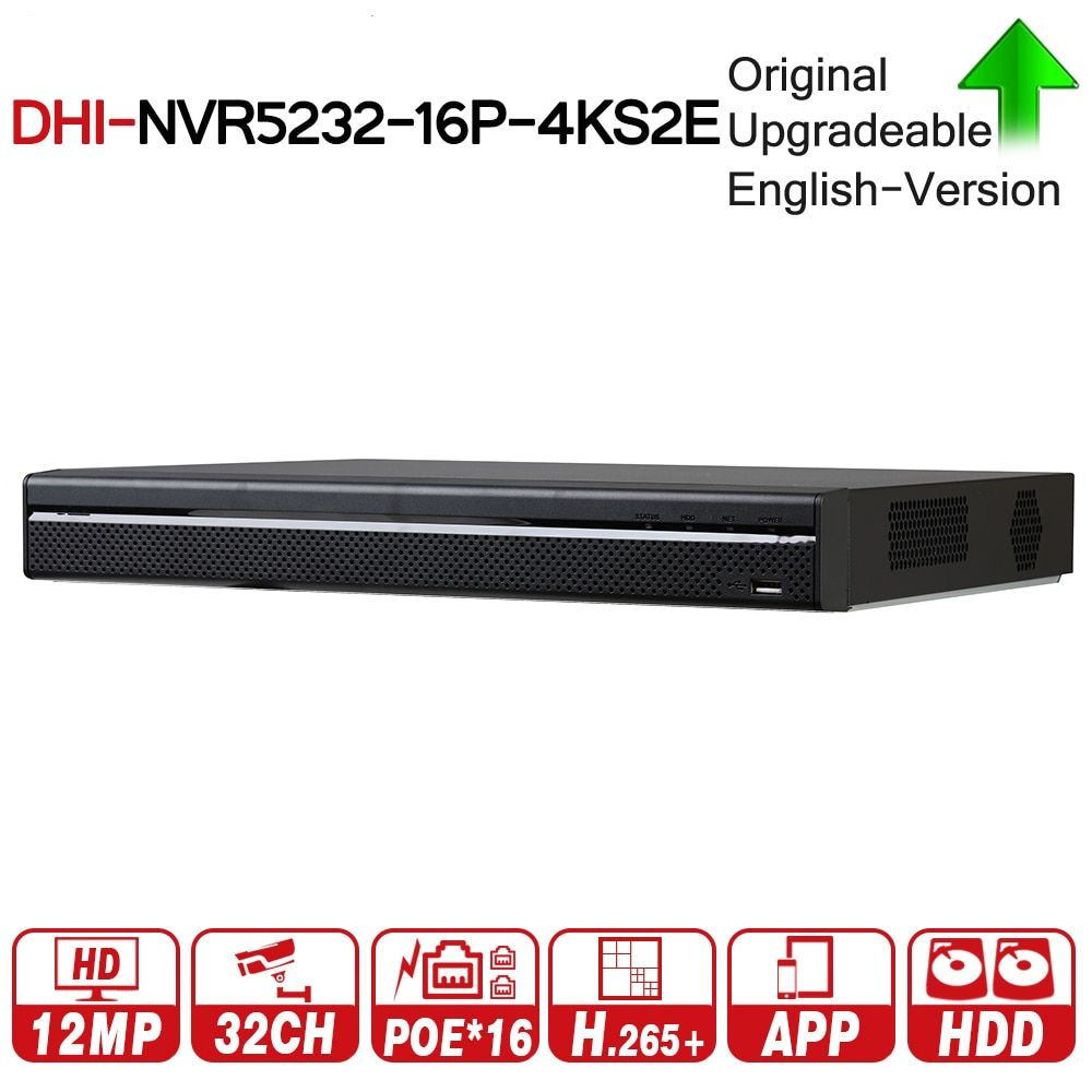 DH Pro 32CH NVR NVR5232-16P-4KS2E With 16CH PoE Port Support Two Way Talk e-POE 800M MAX Network Video Recorder For System