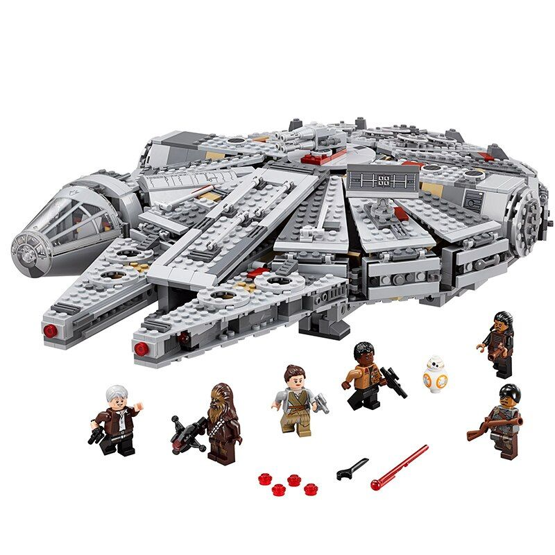 WholeSale 1381pcs Star series Wars Millennium Falcon Figure building blocks Christmas gift model building kit legoings