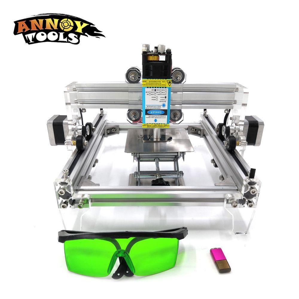 15 W L5 DIY Laser Gravur Maschine, 15000 MW Metall Gravieren Kennzeichnung Maschine, Metall Carving Maschine, erweiterte Spielzeug Holz Router
