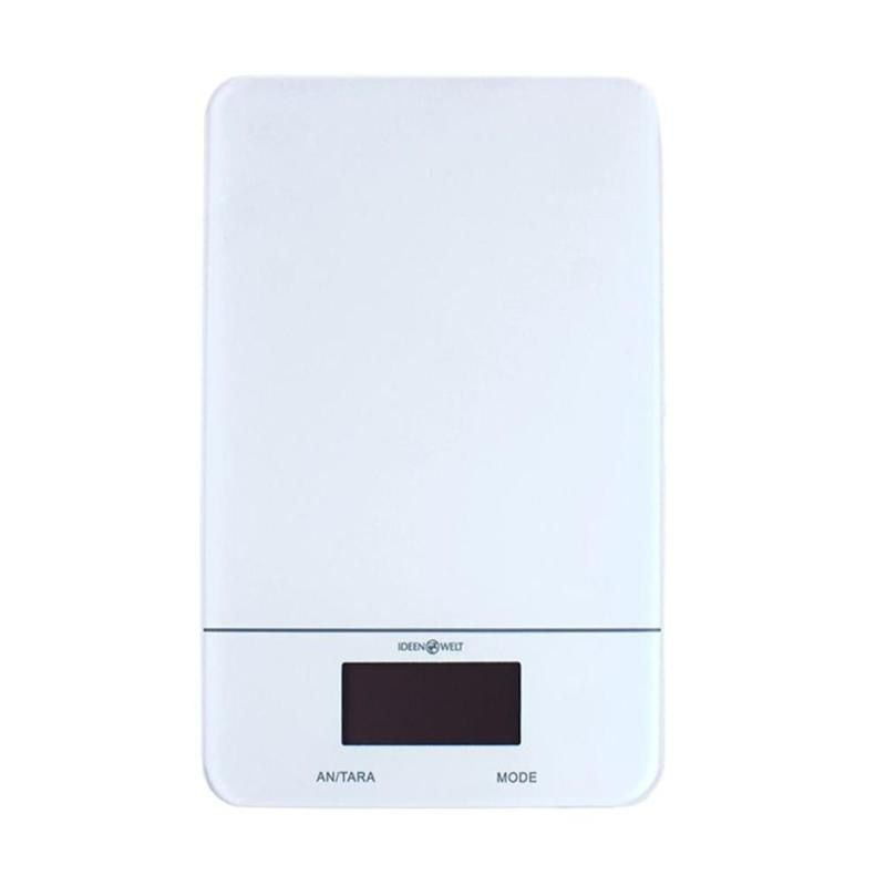 0.1g - 5kg LCD Digital Glass Scale High Precision Electronic Kitchen Household Food Powder Weighing Libra Tool Ultra-thin Design