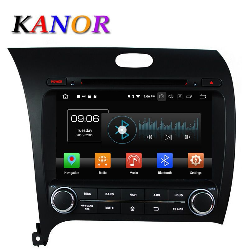 KANOR Android 8.0 Eight Core 4+32g IPS 2din Car Radio Video Player For KIA Cerate Forte K3 2013 With Bluetooth WIFI Audio SWC