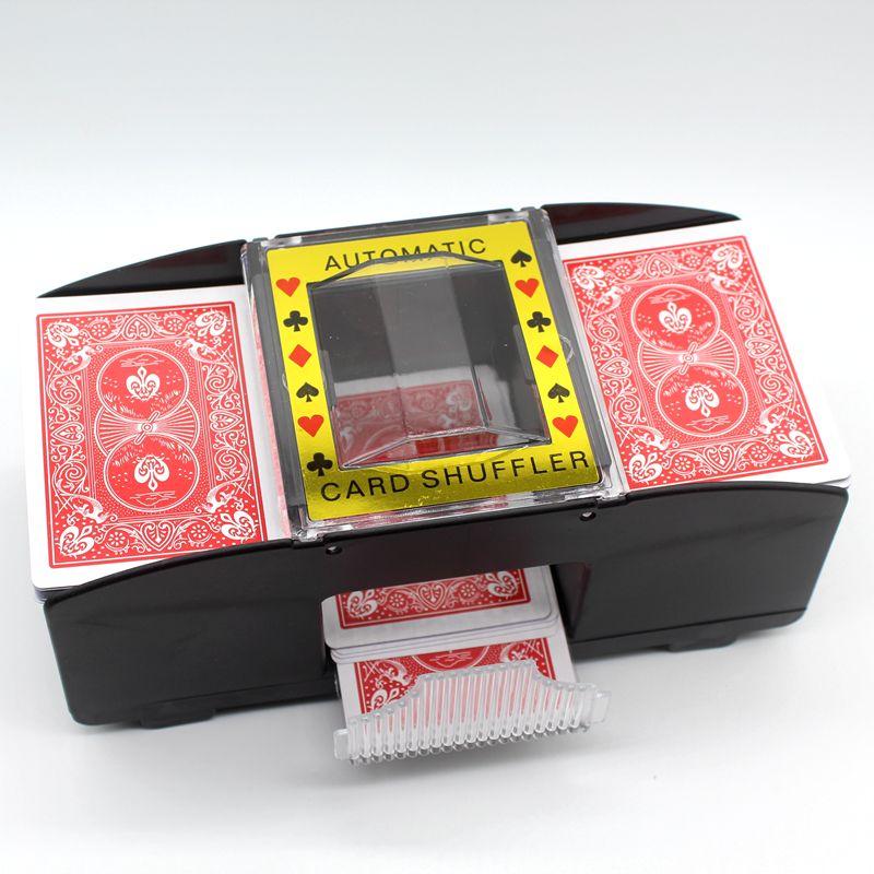 Automatic Poker Card Shuffler Battery Operated Casino Game Playing Shuffling Machine Advanced Casino Robot(2 Deck)
