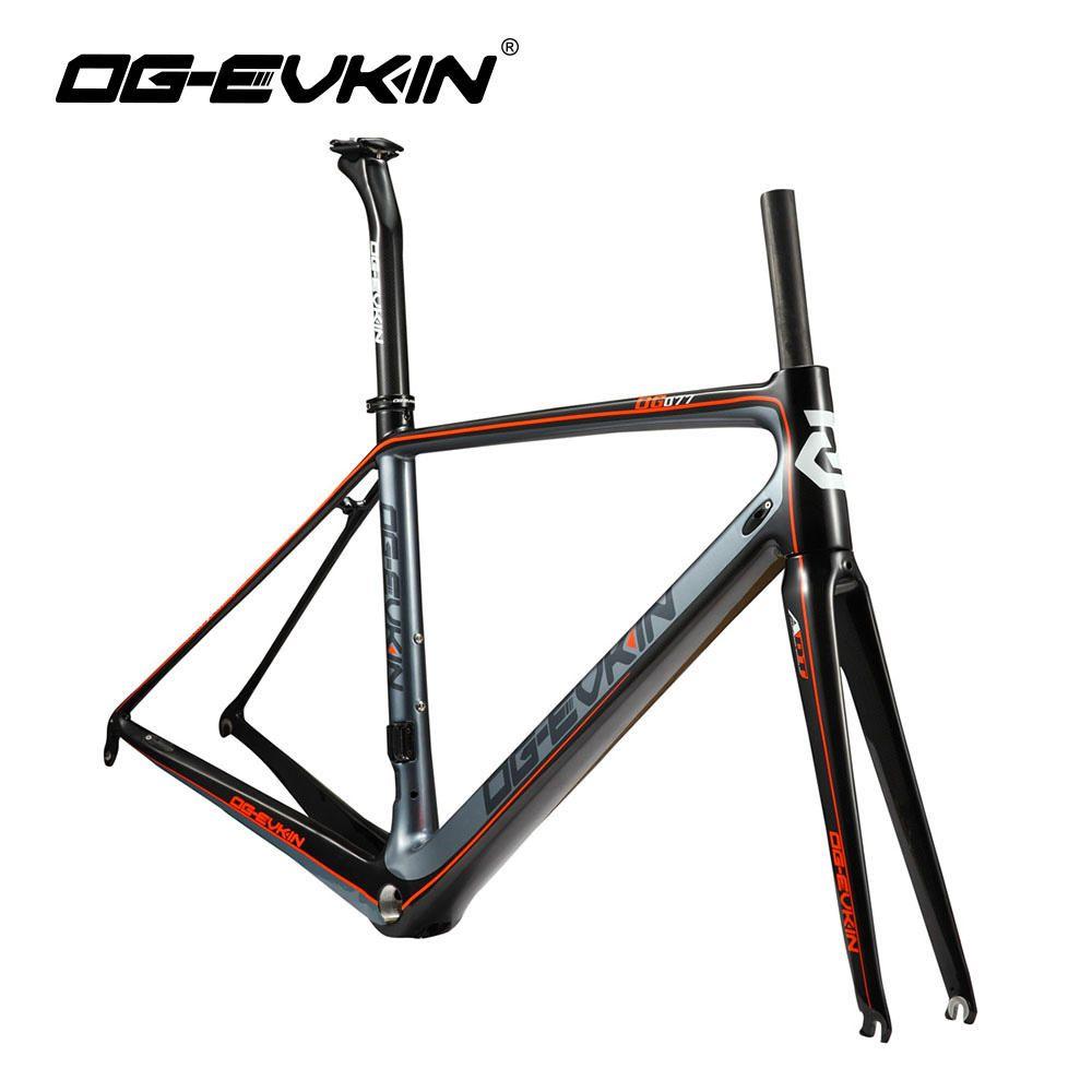 OG-EVKIN Super Light T1000 Carbon Fiber Road Bike Frame 700C Men Women Carbon Bicycle Frame 3K Glossy BSA DI2 Road Bike Frameset