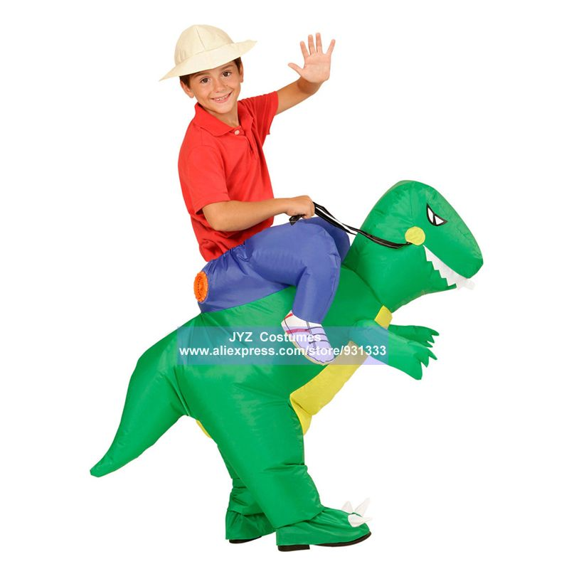 JYZCOS Inflatable Dinosaur Costumes for Kids Girls Boys Unicorn Cowboy Pikachu Pokemon T-Rex Fancy Dress Purim Halloween Cosplay