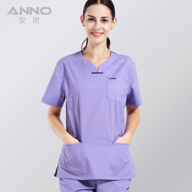 Femmes d'été de vêtements médicaux gommages hôpital infirmière uniforme clinique dentaire et beauté salon design de mode slim fit